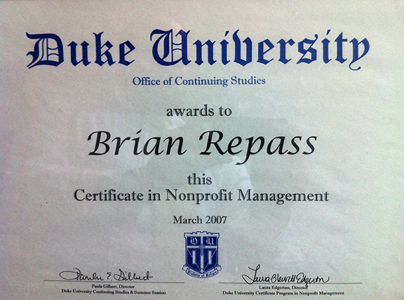 Brian Repass::About Me